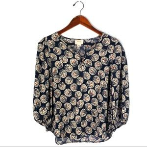 Anthropologie Maeve top long sleeve confetti ball